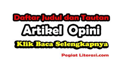 Kumpulan artikel opini