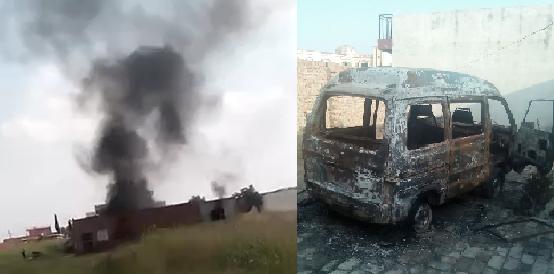 Christian Family's House, Van Torched in Land Grab Bid in Gujar Khan