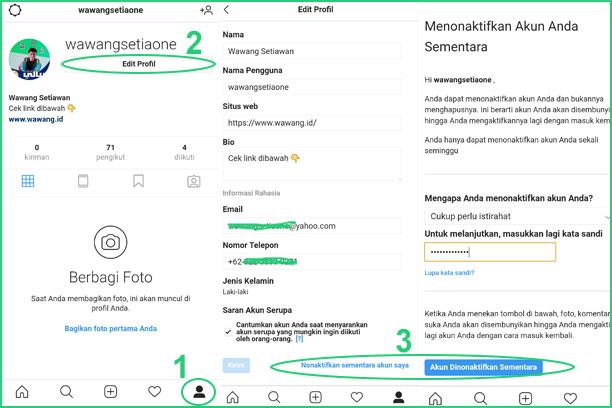 Cara Menonaktifkan Instagram Sementara Dari HP