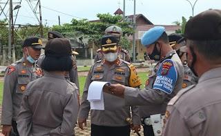 Kapolres Batubara AKBP Ikhwan Lubis SH MH Gelar Apel Bantuan Komando (BKO)
