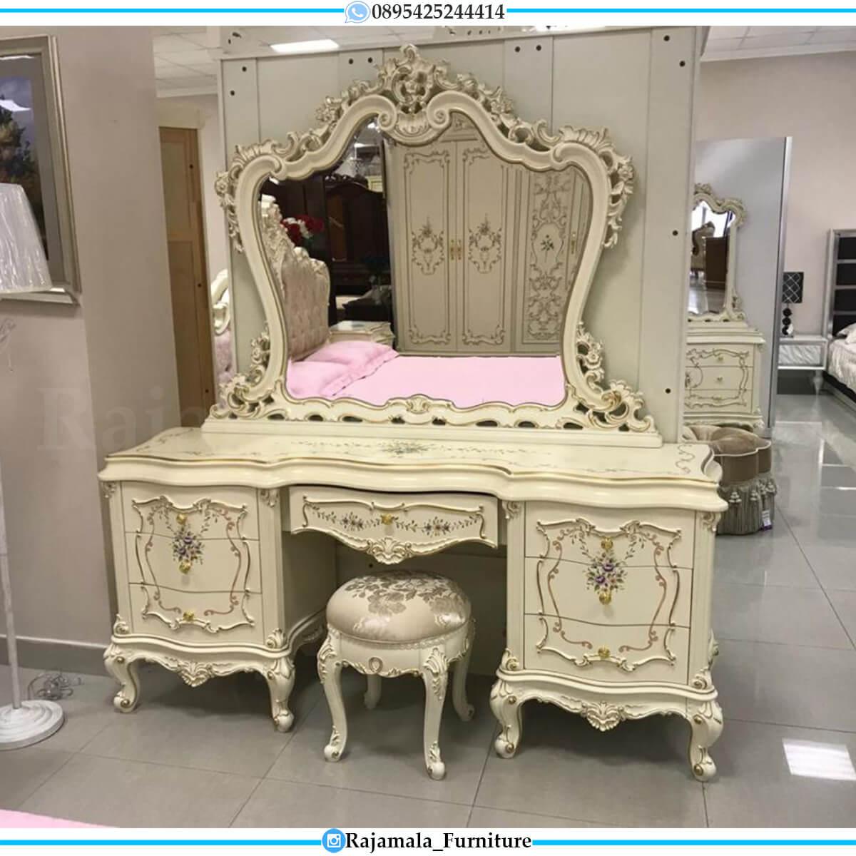 New Model Meja Rias Mewah Ukiran Luxury Vanity Room Classic Design RM-0583
