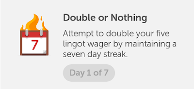 Duolingo's Double or Nothing Lingot wager feature