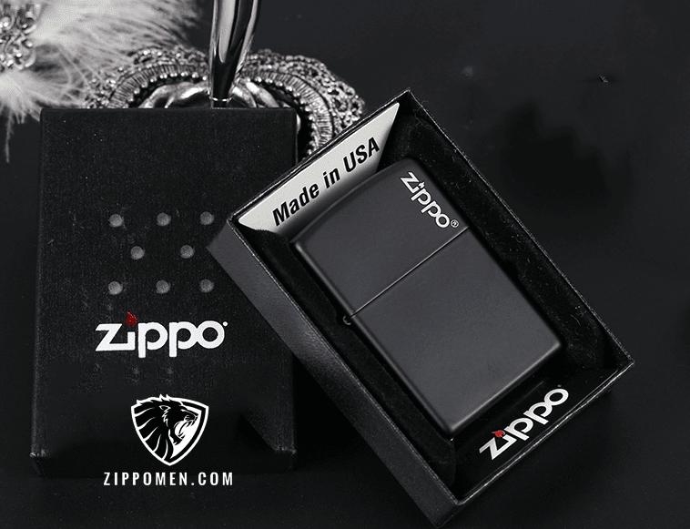 Zippo Đen Than Khắc Logo Zippo - MS06 | Zippo Usa | Zippo Viet Nam