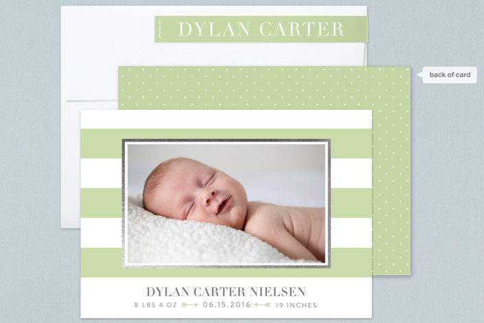 Minted birth announcements by Sarah Brown
