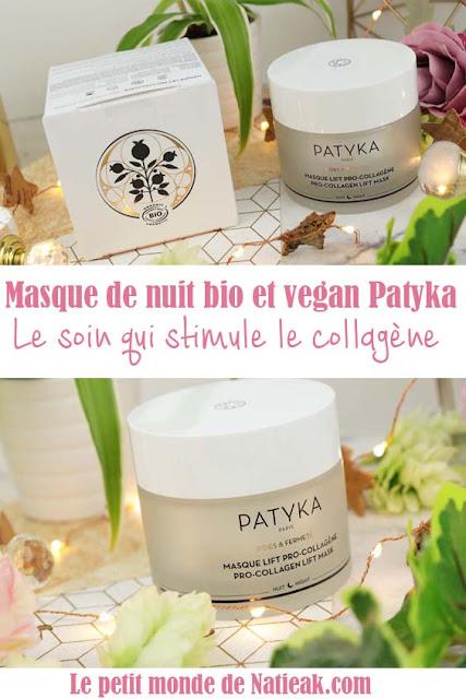 avis Patyka masque lift pro collagène