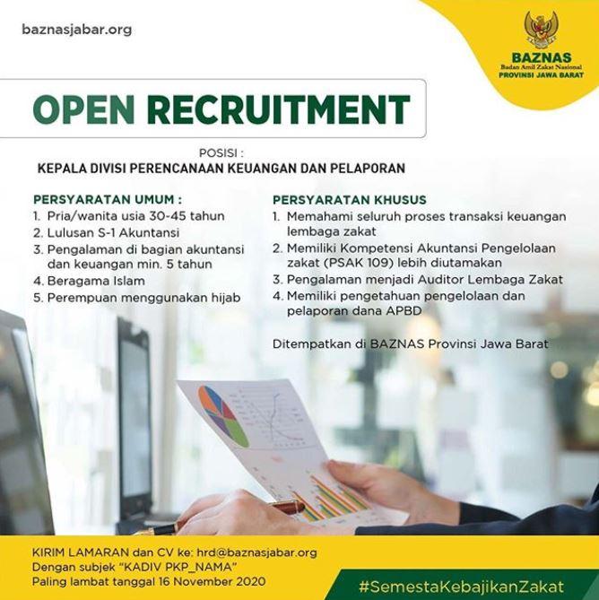 Open Recruitment Baznas Jawa Barat