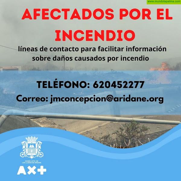 El Ayuntamiento de Los Llanos elabora un censo de daños por el incendio