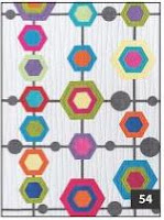Hexi Network from Modern Art Quilts book