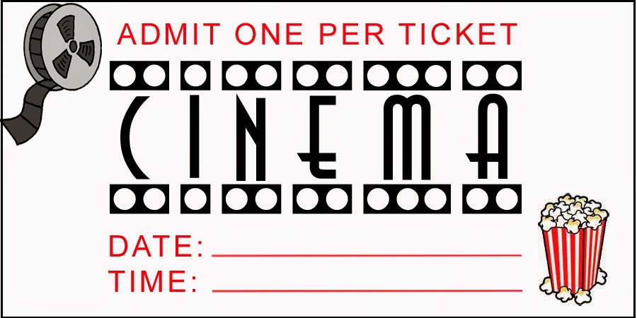 Sizzling image regarding printable movie tickets