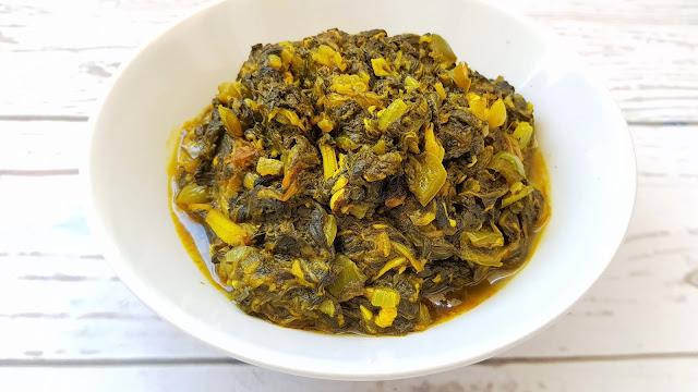 Gomen wat, acelgas etíopes con especias