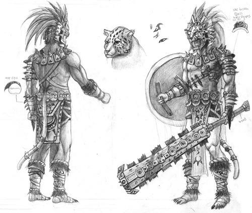 Dibujo Jaguar Azteca