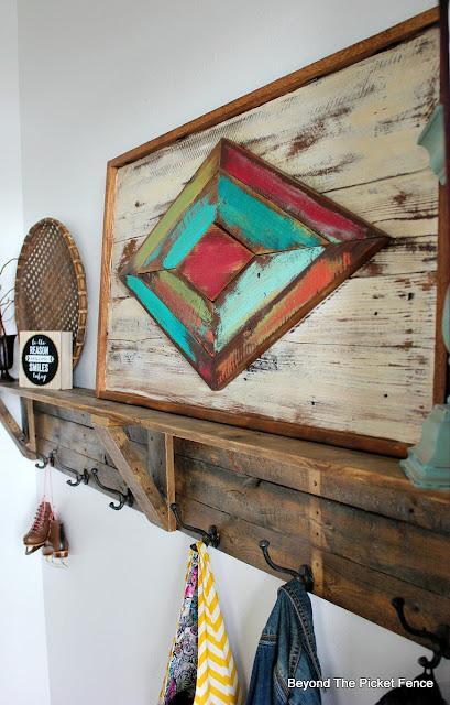 rustic boho art made from reclaimed scrap wood