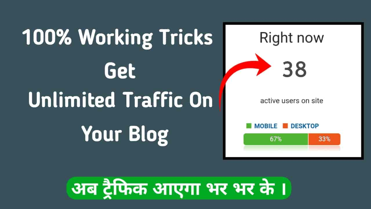 Blog Par Unlimited Traffic Kaise Laye [Very Useful Tips For Gain Traffic]