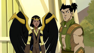 Dawnstar and Karate Kid in JLA Adventures: Trapped In Time