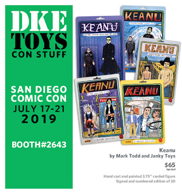 San Diego Comic-Con 2019 Exclusive Keanu Reeves Resin Figure by Mark Todd x Janky Toys x DKE Toys