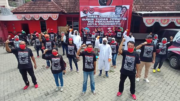 PDI Perjuangan Kota Mojokerto Cegah Corona di Majapahit
