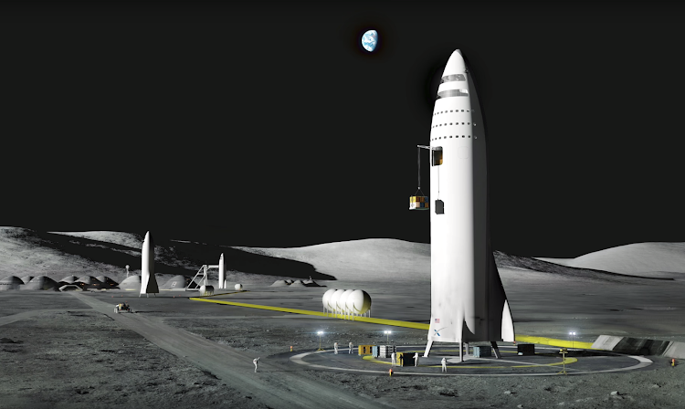 Илон Маск & SpaceX, Презентация BFR — База на Луне