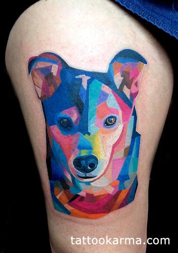 Tatuajes de perros en Acuarela
