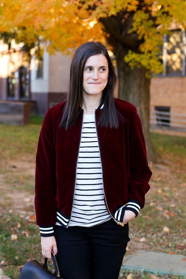 Naturally Me, Romwe Bomber Jacket, Bomber Jacket, Burgundy for Fall