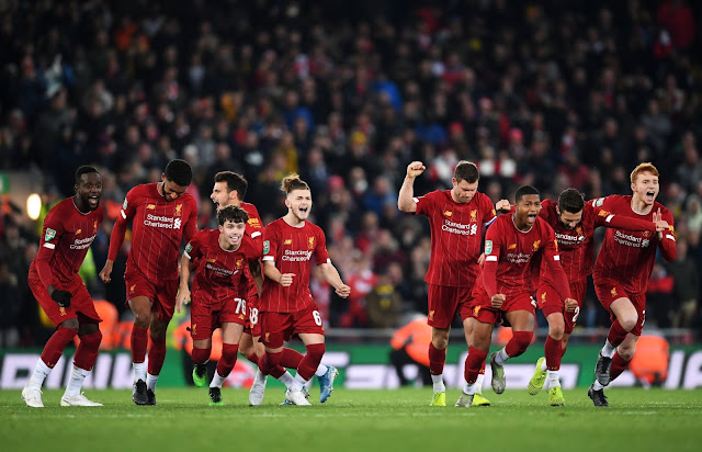 Watch all goals and Penalties as Liverpool young stars beat Arsenal on penalties in the Carabao Cup