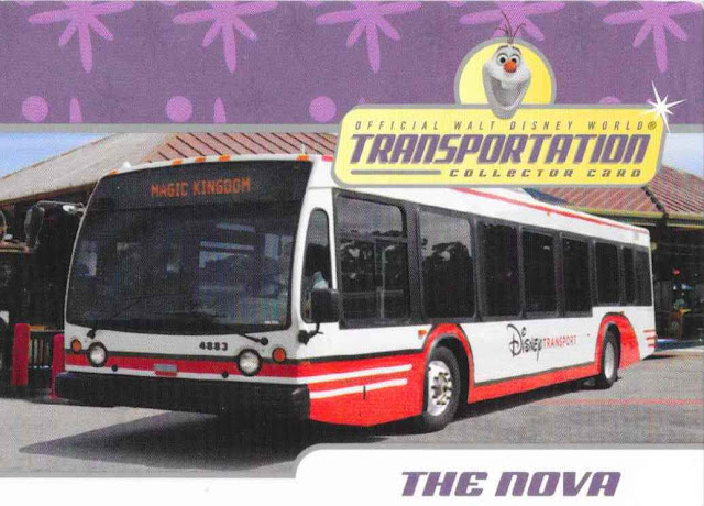 The Nova Walt Disney World Transportation Card 4 of 27