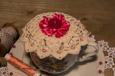 gunadesign guna andersone Vintage Tea Cup Pincushion