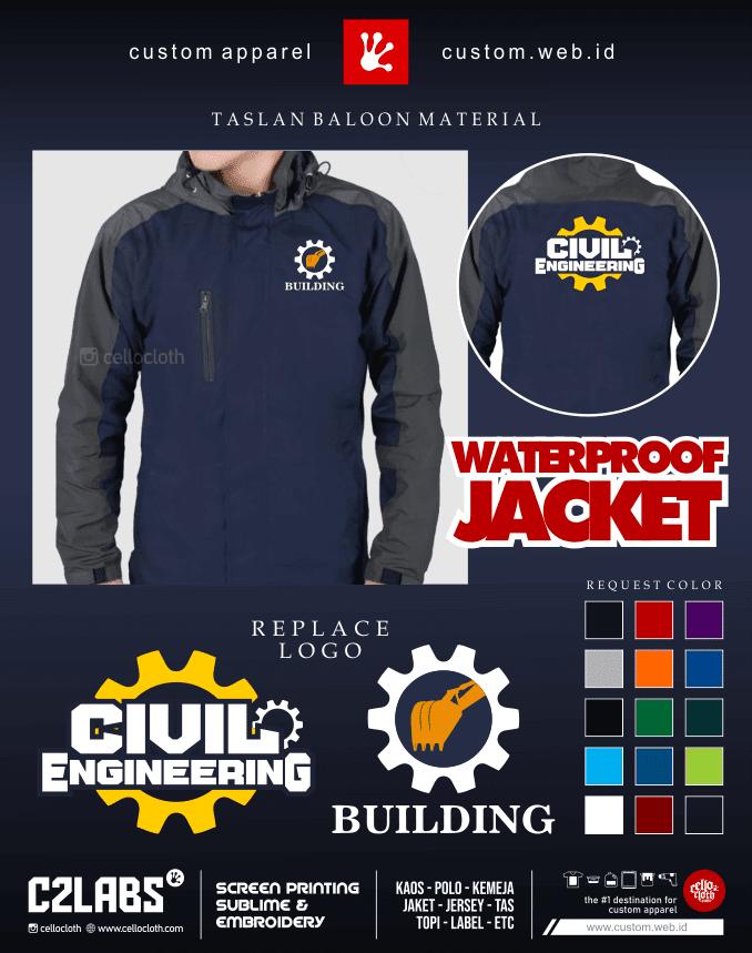 Building Civil Engineering Jacket - Jaket Tehnik Sipil - Konveksi Jaket Jogja
