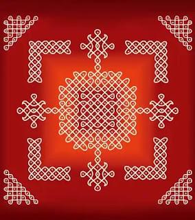 amazing rangoli with dots for diwali