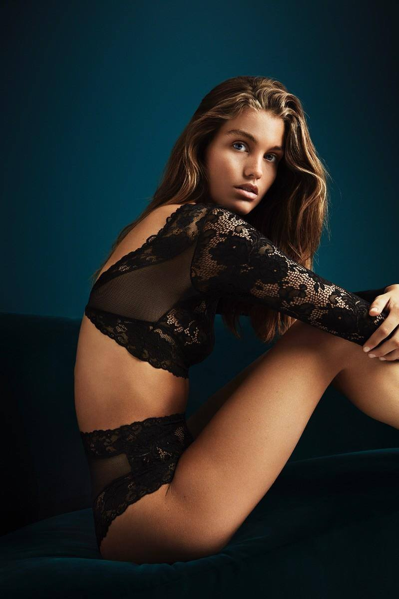 H&M Holiday 2017 Underwear Campaign featuring Luna Bijl