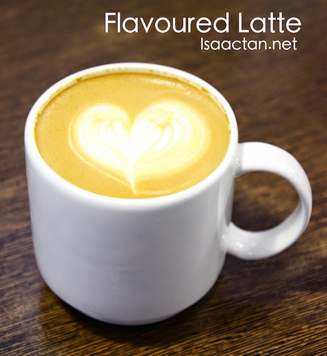 Flavoured latte were available too