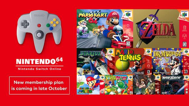 Games for Nintendo 64 and Sega Mega Drive arrive on the Nintendo Online subscription