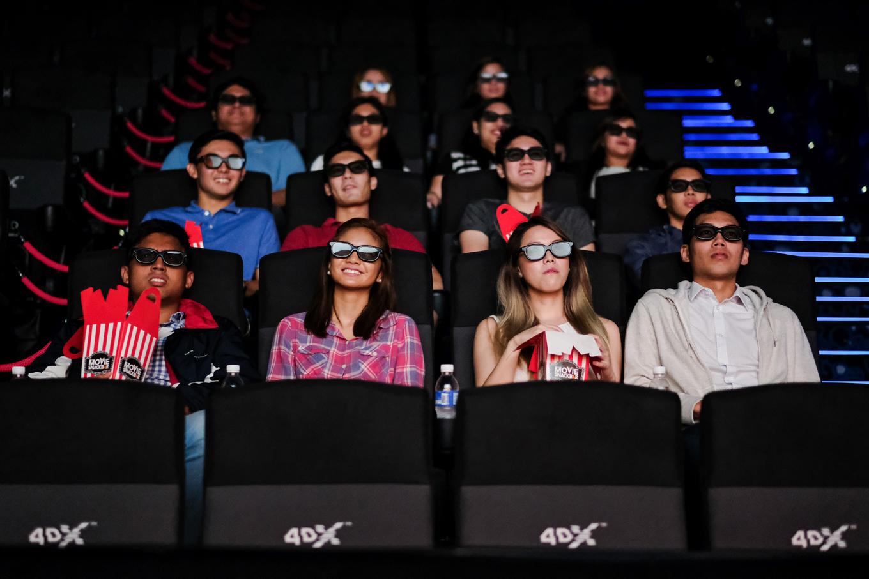 Cinema Center lakwatsera ayala malls cinemas 39 rocking reveal in the u p town center 39 s 4dx