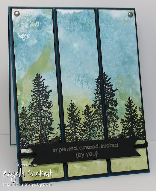Stampin Up Wide Open Spaces and Sweet Little Sentiments, Card Designer Angie Crockett
