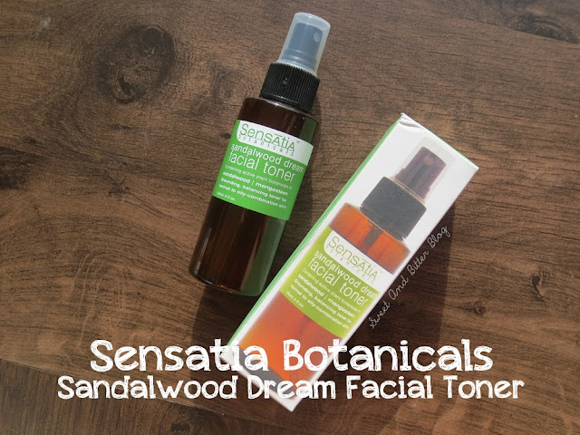 Sensatia Botanicals Sandalwood Dream Facial Toner Review