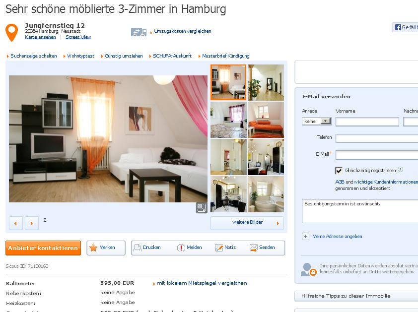 29 august 2013 for Zimmer in hamburg