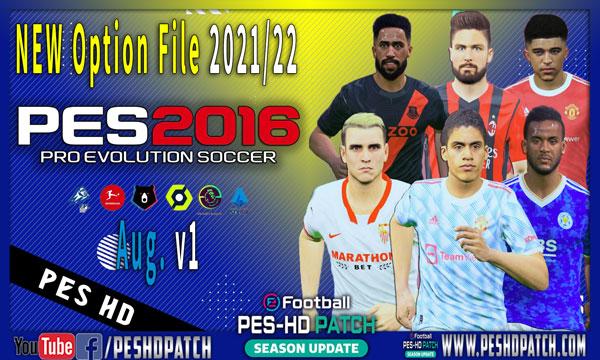 PES 2016 New Option File Season 2021-2022