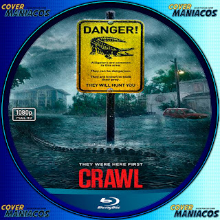 GALLETA LABEL INFIERNO BAJO EL AGUA-CRAWL 2019 [COVER BLU-RAY]