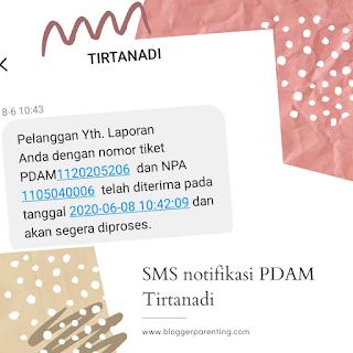 SMS notifikasi PDAM Tirtanadi