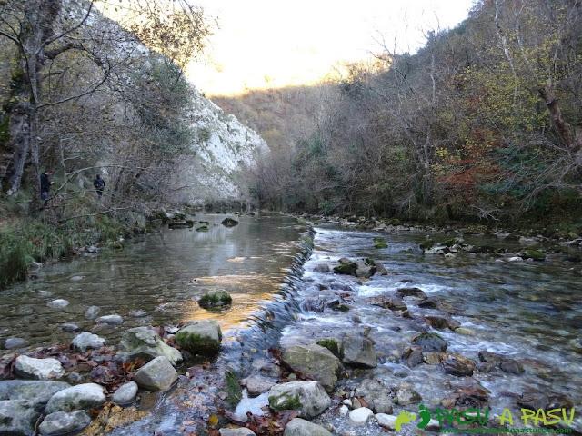 Pequeño salto en el Río Dobra
