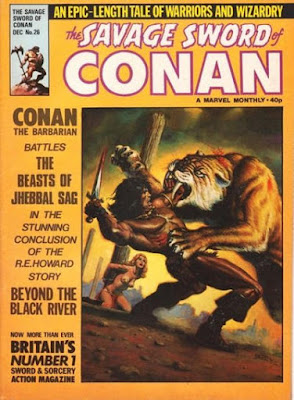 Savage Sword of Conan #26, sabre toothed tiger