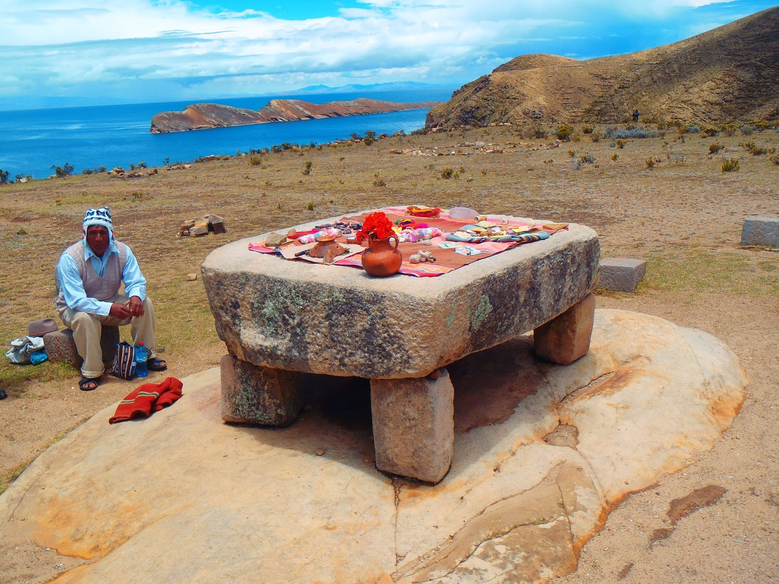 Isla del Sol sacrificial stone table
