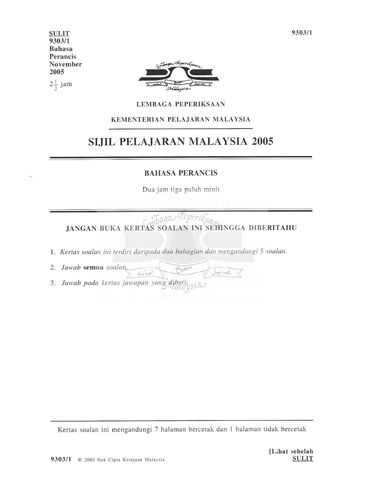 Soalan Spm English Paper 1 2019 - Selangor d