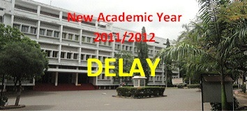 2014 /2015 University Academic year Admissions & Hand Book delayed