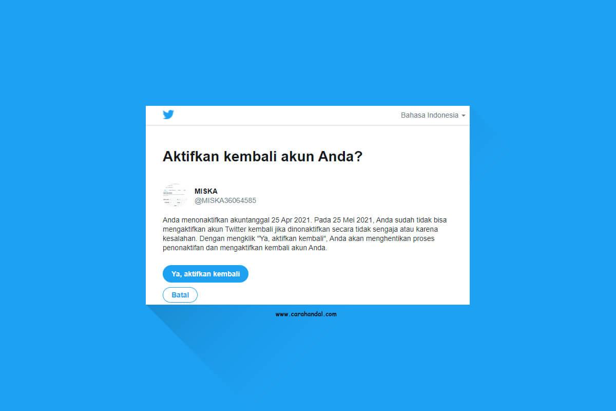 Cara Mengaktifkan Akun Twitter yang di Deactive