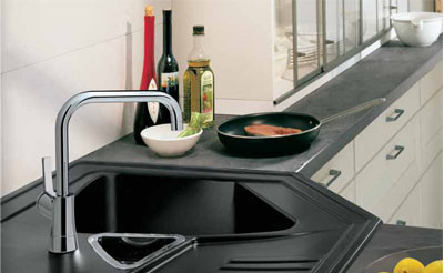 I d e a soluciones para cocinas que hacen esquina - Fregaderos en esquina ...