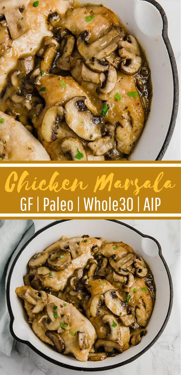 Whole30 Chicken Marsala #Paleo #AIP