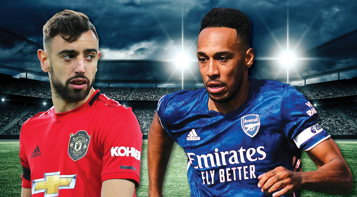 Bruno Fernandes and Pierre-Emerick Aubameyang are expected to lead their teams to victory on Sunday