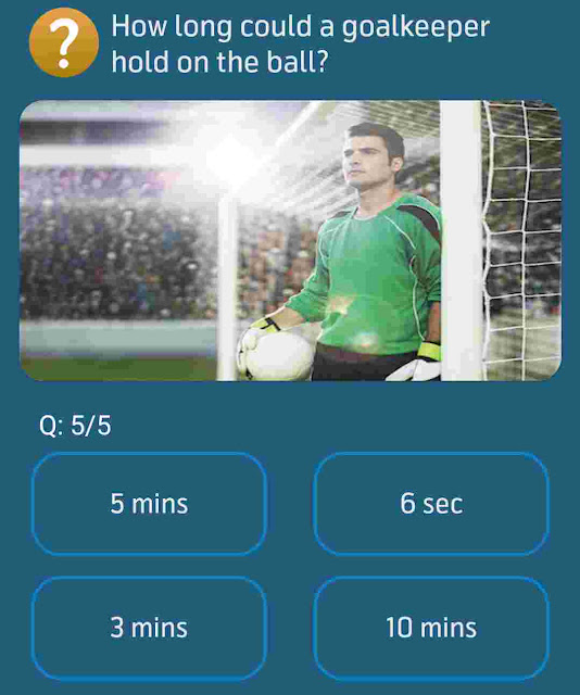 How long could a goalkeeper hold on the ball?