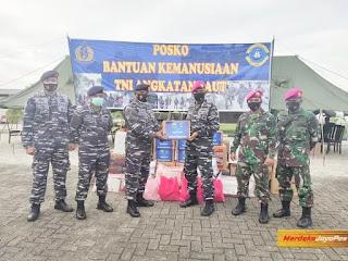 Bantuan Gempa Mamuju 2 Kapal Perang Sandar Pelabuhan Pangkalan TNI-AL Sulbar