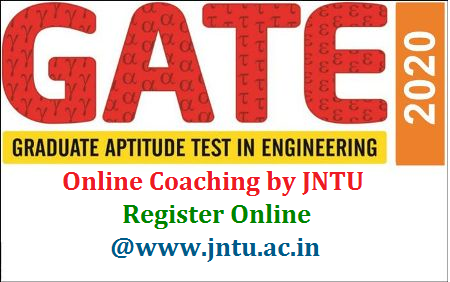 Jawaharlal Nehru Technological University is initiating for GATE 2020 Online classes by subject experts from 11th May 2020. Students may please register for the on-line GATE coaching classes in the web portal www.jntua.ac.in/gate-online-classes/registration. GATE aspirants may register Online at JNTU official website www.jntu.ac.in from 2nd May 2020 to 7th May 2020. How to Register Online for the GATE 2020 Online Digital Classes which are going to be conducted under the supervision of AP State Council for Higher Education APSCHE in Andhra Pradesh for B.Tech Students. Complete registration Process and Official Website Details to enroll for the JNTU GATE 2020 Online Classes